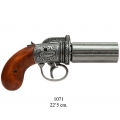 6 barrels Pepper-box revolver, England 1840 (1071)