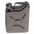 """Zakfles, """"Jerry can"""", Roestvrij staal, 6 OZ, 170 ml"""