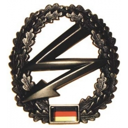"Duitsland BW baret badge, ""Fernmelder"" metal (2)"