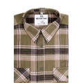 Ruitshirt Flanel Moutain (jager groen)