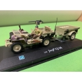 Willy Jeep CJ-2A met aanhangwagen (01226)