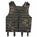 "Tactical vest, ""Molle light"", woodland, Modular System"
